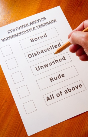 Customer Service Feedback Form funny options Stock Photo - 16959369