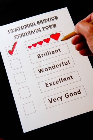 Customer Service Feedback Form with options for rating  photo