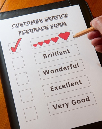 Funny Customer Service Feedback Form option to  love  photo