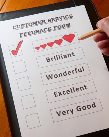 Funny Customer Service Feedback Form option to  love Stock Photo - 16959354