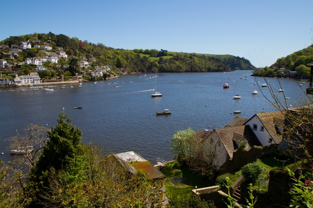 View from Dartmouth Devon towards the sea photo