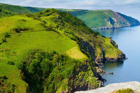 Coastline of North Devon England Stock Photo