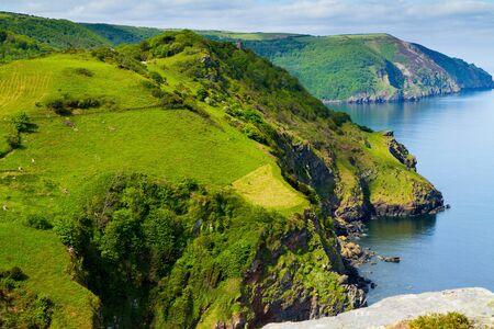 Coastline of North Devon England 版權商用圖片