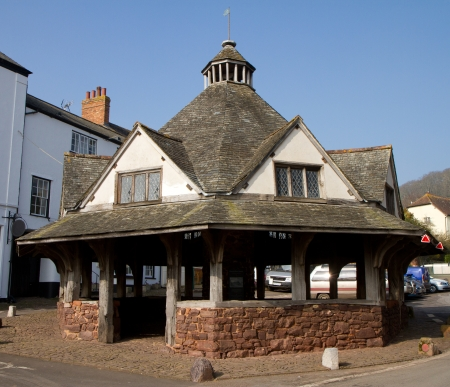 county somerset: Historic Yarn Market  Dunster Somerset England  Stock Photo