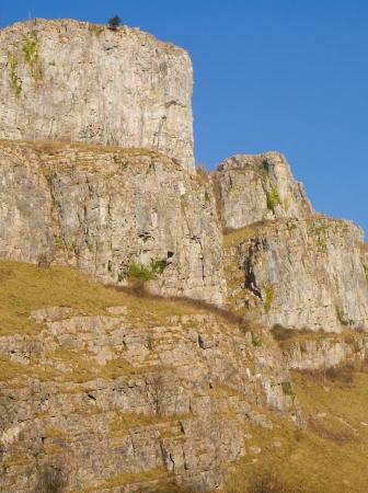 carboniferous: Limestone rock Cheddar Gorge Somerset England