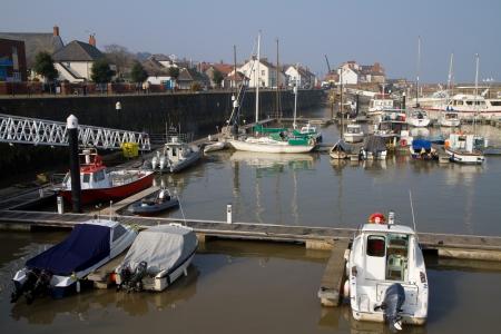 county somerset: Watchet harbour Somerset England Stock Photo