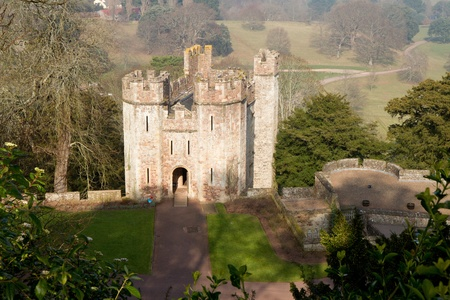 gatehouse: Dunster Castle Gatehouse Tenants Hall Somerset England  Editorial