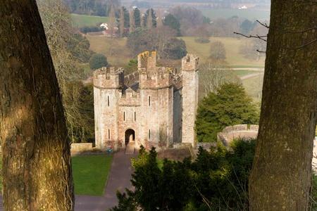 county somerset: Dunster Castle Gatehouse Somerset England