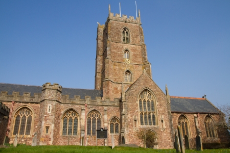 county somerset: Dunster Church Somerset England,  Priory Church of St George a 15th century Grade I listed building