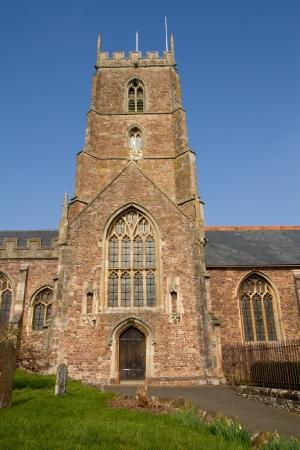 county somerset: Dunster Church Somerset England