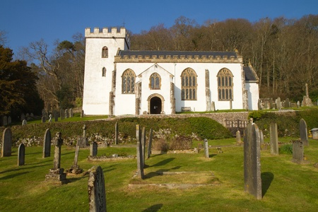 county somerset: Church Selworthy village Somerset, England near Minehead