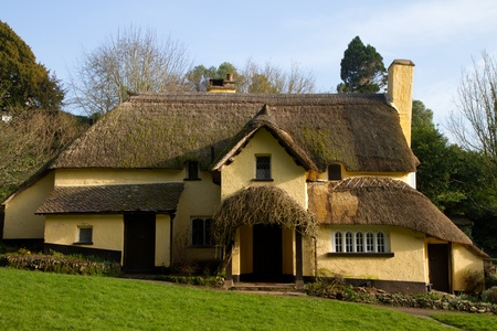county somerset: English Thatched Cottage Selworthy Somerset