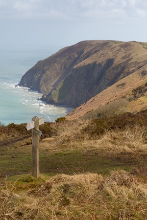 lynmouth: Ilfracombe to Lynmouth view at Ramsey beach and Elwill Bay Devon