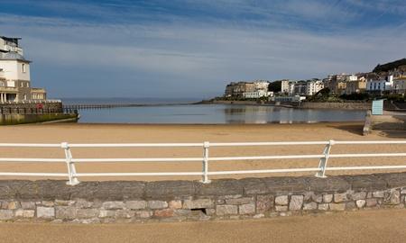 birnbeck: Marine Lake Weston-super-Mare, Somerset, Inghilterra Regno Unito e Knightstone Isola La migliore spiaggia famiglia a Weston-s-mare