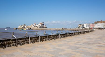 birnbeck: Weston-super-Mare seafront and promenade Somerset England UK