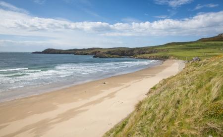 Whitesands Bay beach St Davids Pembrokeshire West Wales UK