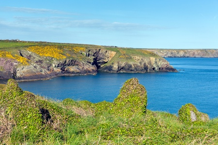 Caer Bwdy Bay St Brides Bay Pembrokeshire West Wales UK near St Davids and in the Coast National Park    The Pembrokeshire Coast Path passes alongside the bay