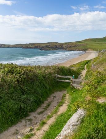pembrokeshire: Coastal Path Wales Whitesands Bay Pembrokeshire UK