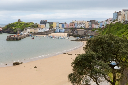 tenby wales: Tenby Pembrokeshire Wales   Medieval walled fishing town on west side of Carmarthen Bay with great beaches and history  In Welsh known as Dinbych-y-pysgod