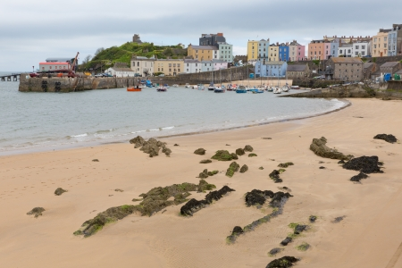 pembrokeshire: Tenby Pembrokeshire Wales low tide