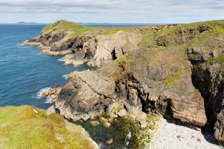 ynys: Wooltack Point next to Skomer Island West Wales