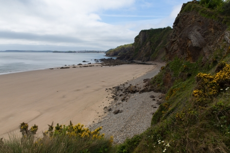 tenby wales: View to Tenby  from Monkstone Point Pembrokeshire West Wales Stock Photo