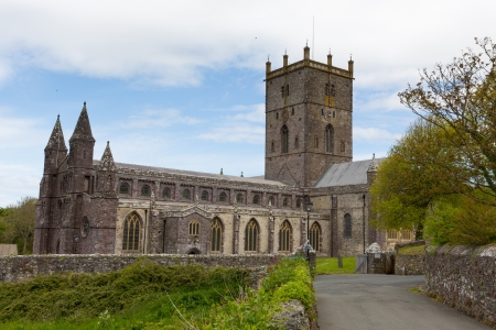 St Davids Cathedral in St Davids City Pembrokeshire Wales dates back to the 12th century although since the 6th century there has been a church on this site