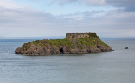 tenby wales: St Catherine s Island Tenby Wales Stock Photo