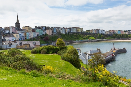 Tenby Wales   Medieval walled fishing town on west side of Carmarthen Bay with great beaches and history  In Welsh known as Dinbych-y-pysgod
