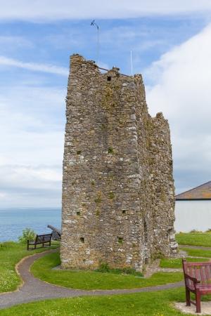 tenby wales: Castle ruins Tenby Wales