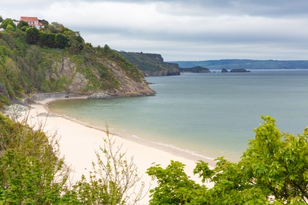 great bay: North beach Tenby Pembrokeshire Wales   Medieval walled fishing town on west side of Carmarthen Bay with great beaches and history  In Welsh known as Dinbych-y-pysgod