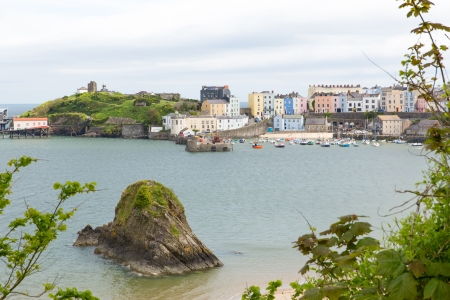 tenby wales: Tenby Pembrokeshire Wales historic Welsh town on west side of Carmarthen Bay with great beaches and history