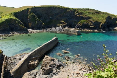 Port Isaac harbour North Cornwall Coast England UK photo