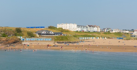 Bude beach North Cornwall between Tintagel and Clovelly England UK on a beautiful sunny summer day