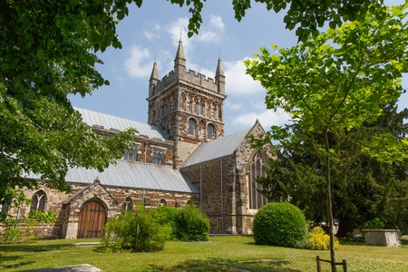 Wimborne Minster Dorset England, Saxon church with Norman and Gothic made of limestone