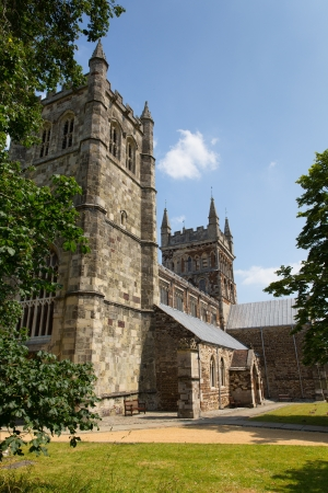 Wimborne Minster church Dorset England, Saxon with Norman and Gothic made of limestone