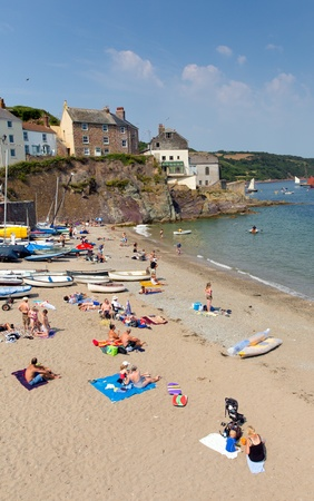 Cawsand beach Cornwall England United Kingdom on the Rame Peninsula overlooking Plymouth Sound