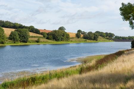 quantock hills: Hawkridge reservoir Quantock Hills Somerset known for trout fishing