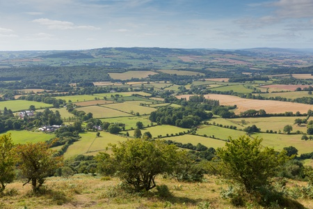 View from on the Quantock Hills Somerset