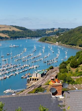 pleasure craft: Dartmouth Devon and boats on Dart River from Kingswear