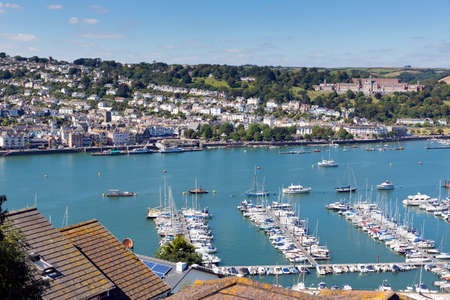 Dartmouth Devon and boats on Dart River from Kingswear photo