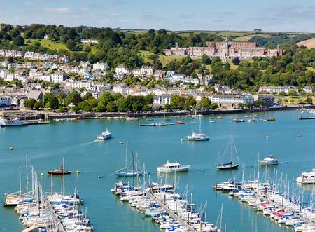 pleasure craft: Dartmouth and River Dart harbour Devon England  Editorial