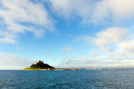 St Michaels Mount Marazion Cornwall England medieval castle and church in Mounts Bay  photo