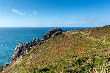 Zennor capo Cornwall England UK vicino St Ives sulla South West Coast Path sul Heritage Coast Penwith
