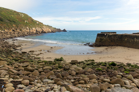 Lamorna beach and cove Cornwall England UK on the Penwith peninsula approximately four miles south of Penzance photo