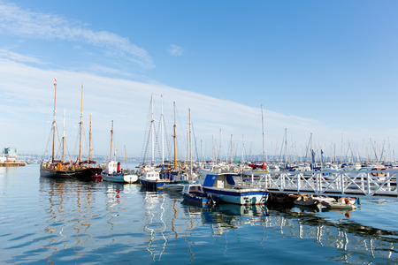 Brixham Devon marina with boats and yachts England Torbay UK  photo