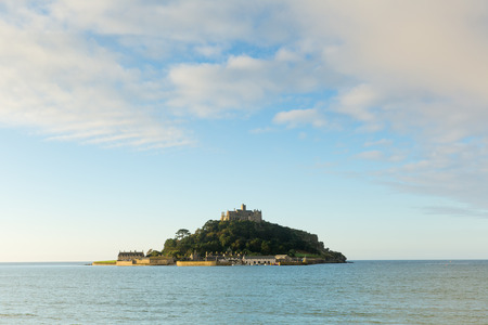 mount saint michael: St Michaels Mount Marazion Cornwall England medieval castle and church on an island  in Mounts Bay