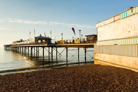 tourist destinations: Paignton pier Torbay Devon England near tourist destinations of Torquay and Brixham