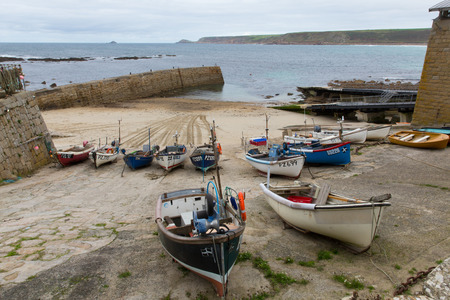 sennen: Boats in the harbour Sennen Cove Cornwall England UK near Lands End on the South West Coast Path Editorial