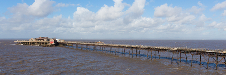 birnbeck: Birnbeck Pier Weston-super-Mare, Somerset in Inghilterra storica struttura inglese